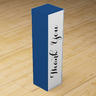 Klassischer blauer leistungsfähiger Normallack Weinbox