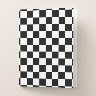Klassischer Checkered laufender Sport-Karo Bewerbungsmappe