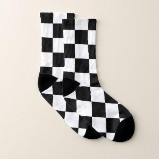 Klassischer Checkered laufender Sport-Karo Socken