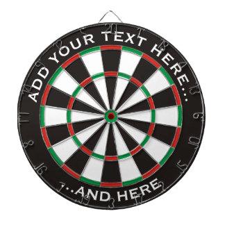 Klassischer Dartboard mit kundenspezifischem Text Dartscheibe