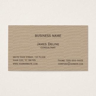 Klassischer eleganter strukturierter Brown-Berater Visitenkarte