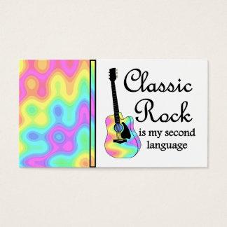 Klassischer Felsen ist meine zweite Sprache Visitenkarte
