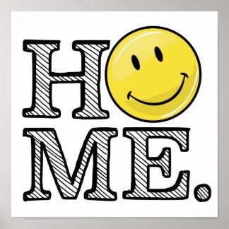 Klassischer gelber glücklicher GesichtHousewarming Poster