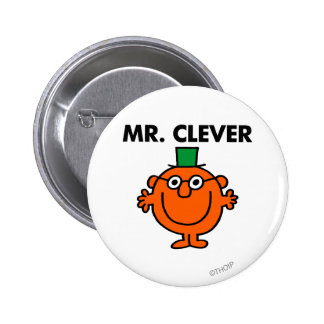 Klassischer Herr Clever Logo Runder Button 5,7 Cm