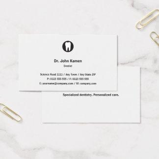 Klassischer Klassiker des Zahnarzt-| Visitenkarte