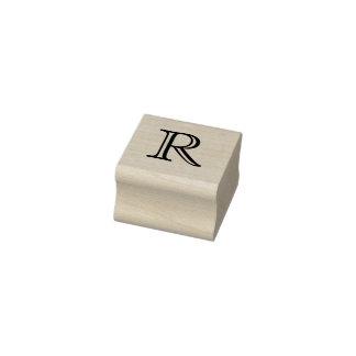 Klassischer Monogramm-Buchstabe R 1 Gummistempel