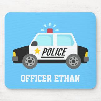 Klassischer Polizeiwagen mit Sirene für Kinder Mousepad