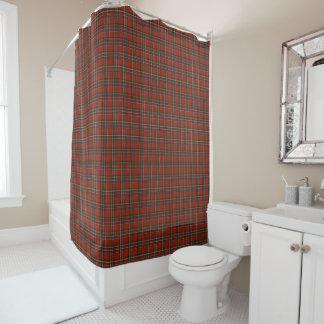 Klassischer roter und blauer königlicher duschvorhang