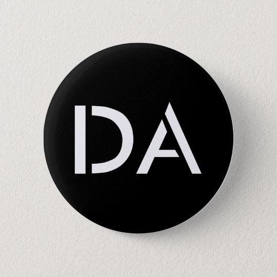 Klassischer schwarzer Knopf DA Runder Button 5,7 Cm