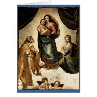 "Klassischer ""Sistine Madonna"" RAPHAEL (circa 1513) Karte"