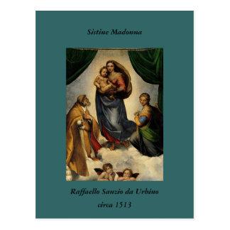 "Klassischer ""Sistine Madonna"" RAPHAEL (circa 1513) Postkarte"