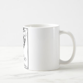 Klassischer weißer TassePiemont Hochland-Tanz Kaffeetasse