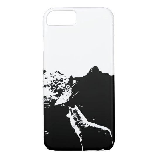 Klassischer Wolf-Telefon-Kasten iPhone 7 Hülle