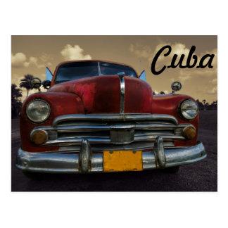Klassisches amerikanisches Auto in Vinales, Kuba Postkarte