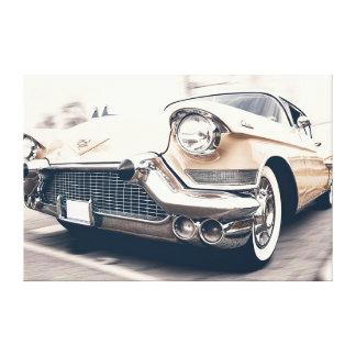 Klassisches antikes Automobil-Auto eingewickelte Leinwanddruck