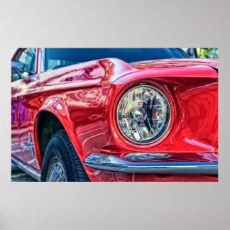 Klassisches Automobil-Auto-Grafik-Foto-Plakat Poster