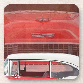 Klassisches Autos Chevy Bel Air Dodge-rotes weißes Untersetzer