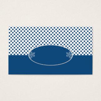 Klassisches blaues Tupfen-Muster Visitenkarte