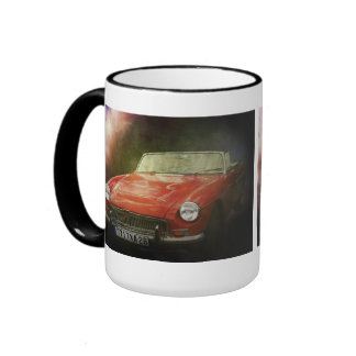 Klassisches britisches Sport-Auto Ringer Tasse