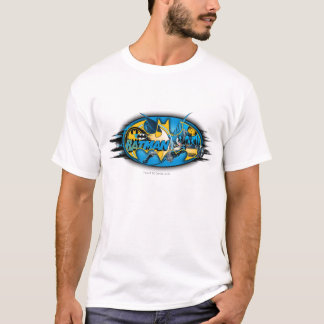 Klassisches Collagen-Logo Batman-Symbol-| T-Shirt