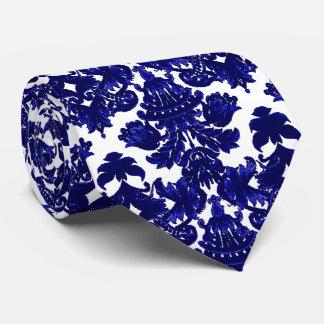 Klassisches Damast-Blau Krawatte