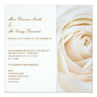 Klassisches Elfenbein-weißer Quadratische 13,3 Cm Einladungskarte