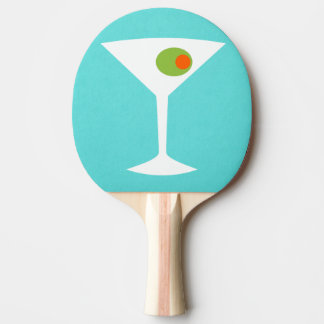Klassisches Film-Martini-Klingeln Pong Paddel Tischtennis Schläger