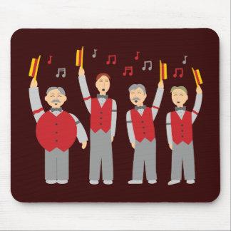 Klassisches Friseursalon-Quartett Mousepads