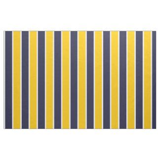 Klassisches großes mutiges gelbes blaues weißes stoff