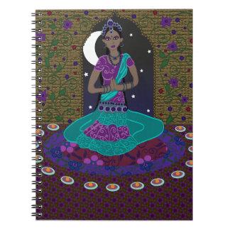 Klassisches indisches Tänzer-Notizbuch Spiral Notizblock