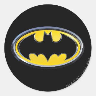 Klassisches Logo Batman-Symbol-| Runder Aufkleber