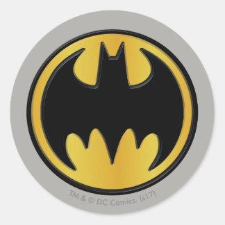 Klassisches rundes Logo Batman-Symbol-  Runder Aufkleber