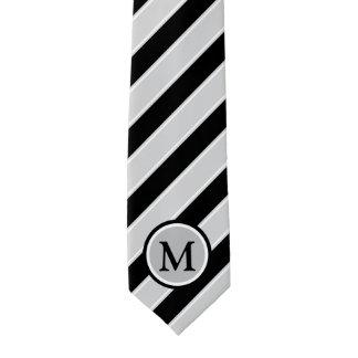 Klassisches schwarzes silbernes Grau Stripes