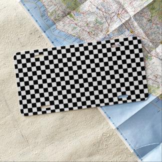 Klassisches Schwarzweiss-Schachbrett durch STaylor US Nummernschild