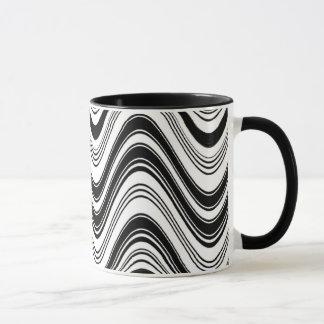 Klassisches Schwarzweiss Tasse
