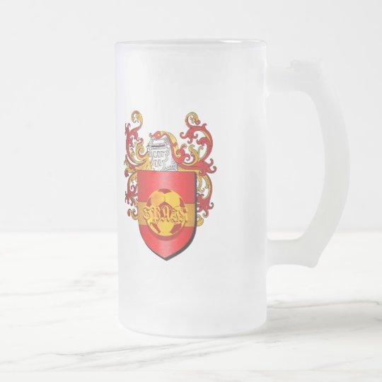 Klassisches spanisches Fußball Futbol Wappen Matte Glastasse