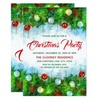 Klassisches traditionelles frohe Weihnacht-Party Karte