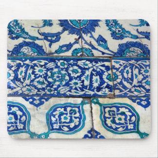 Klassisches Vintages iznik blaue und weiße Mousepad