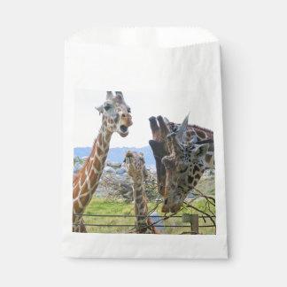 Klatschen-Giraffen-Bevorzugungs-Taschen Geschenktütchen