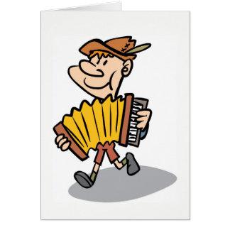 Klavier-Akkordeon-Spieler notecard, Musikerkarte Karte