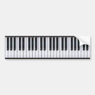 Klavier Autoaufkleber