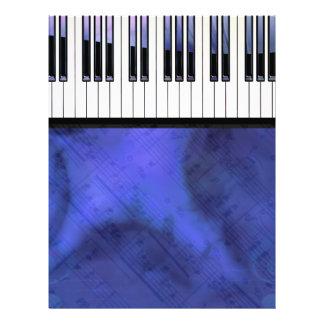 Klavier befestigt Blatt-Musik-moderne Drehung Personalisierte Flyer