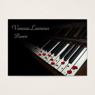 Klavier befestigt schwarzes elegantes molliges visitenkarte