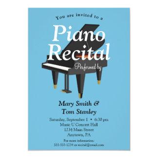 Klavier-Erwägungsgrunden-Einladungs-Musik-Konzert 12,7 X 17,8 Cm Einladungskarte