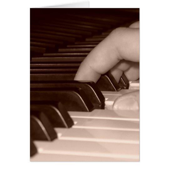 Klavier-Finger Karte
