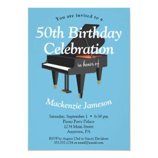 Klavier-Geburtstags-Einladungs-Musik-Musiker 12,7 X 17,8 Cm Einladungskarte