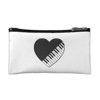 Klavier-Herz-Kosmetik-Tasche Makeup-Tasche