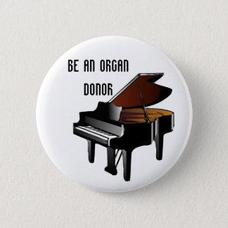 Klavier ist ein Organ-Spender Runder Button 5,7 Cm