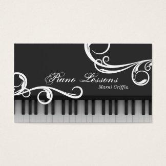 Klavier-Lehrer-Lektions-Visitenkarte-eleganter Visitenkarte