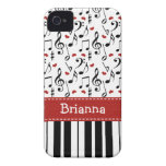 Klavier-Musik-Anmerkung iPhone Abdeckung Case-Mate Case-Mate iPhone 4 Hülle